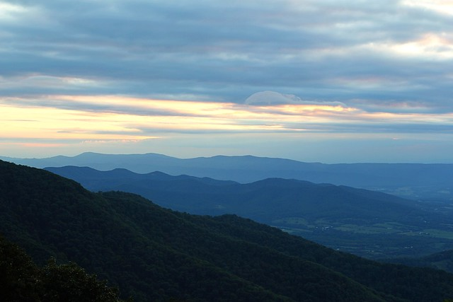 appalachian mountains from sky ridge park