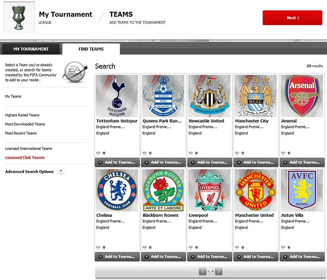 FIFA 12 Creation Centre: Use Licensed Teams