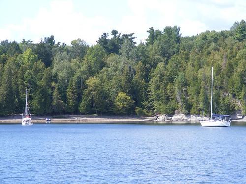 Spoon Bay anchorage