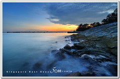 singapore east coast beach- milky wave (fiftymm99) Tags: sunset beach coast yahoo seaside google nikon marine singapore rocks wave parade east milky d300 fiftymm99 gettyimagessingaporeq2