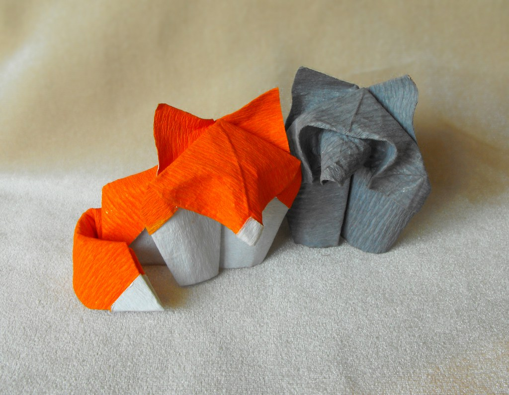 Care Finwych Tags Origami Wolf Fox Hoangtienquyet