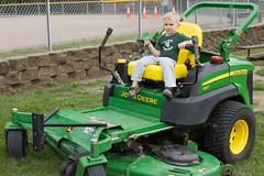Lawnmower (Craig Dyni) Tags: boy colin lawnmower finn sharppark touchatruckday deltatownship dyni