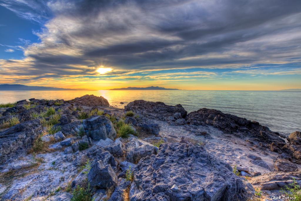 Sunset at Great Salt Lake   0811-1-8365