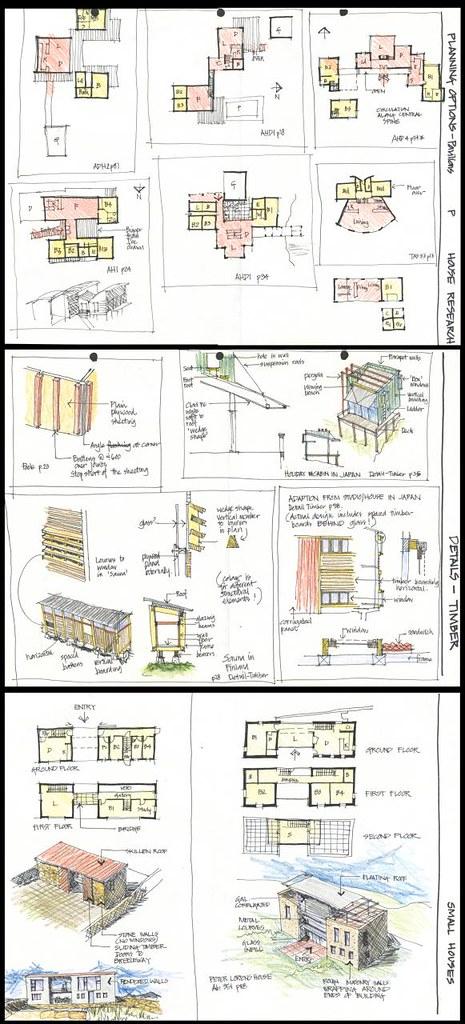 Old architectural sketchbook