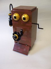 Hello Operator....? (monsterbrick) Tags: phone lego western windup crank steampunk moc westernelectric