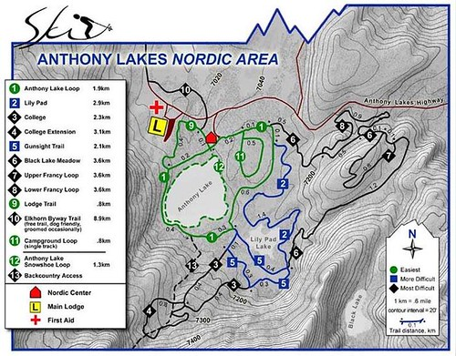 Anthony Lakes Nordic Map