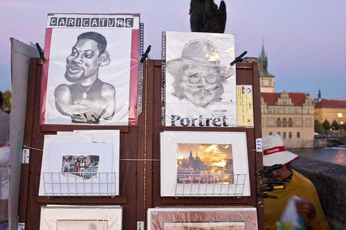 Caricatures at Charles Bridge