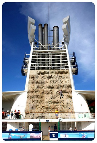 Outdoor climbing wall Royal Caribbean Cruise ship