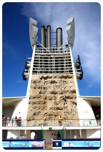Outdoor climbing wall Royal Caribbean Cruise ship