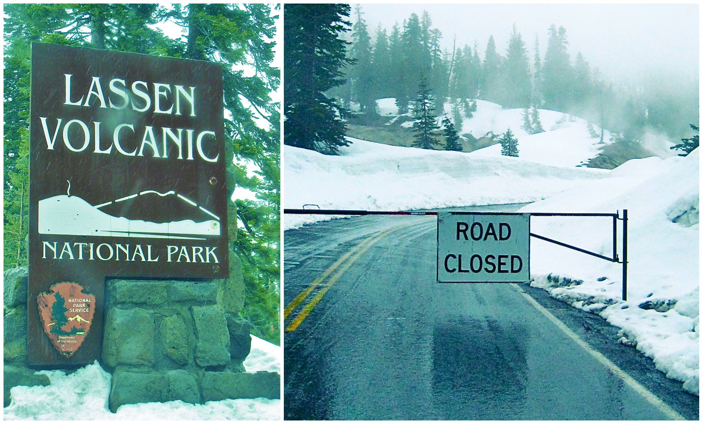 Lassen Volcanic Rod Closed