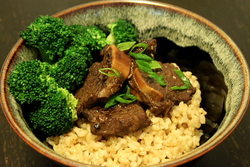 Chinese Short Ribs with brown rice.