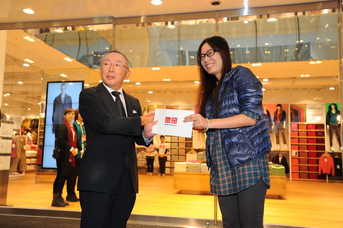 HAPPY UNIQLO RIBBON消費者由柳井正社長致贈三萬元店鋪抵用券