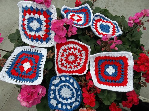 Wonderful Red,Blue and White Squares thank you very much ! I love them.