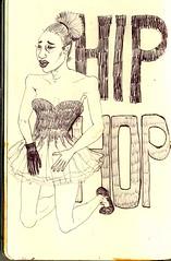 HIP HOP (Valerie Pezeron) Tags: pen drawing sketchbook glove hiphop lettering ethnic blacklady classicaldancer