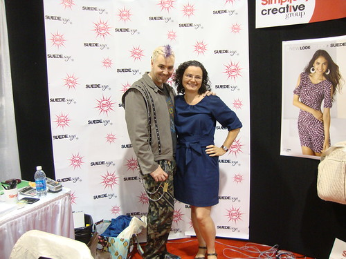 Me in Simplicity 2406 with Suade from Project Runway!
