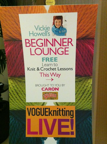 Checked in to #VKLive and ran in to big ol' signs for my Beginner Lounge.:)