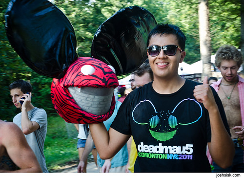 Deadmau5 fan @ FreeFest 2011