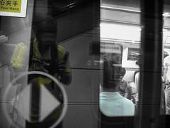 barakuda in yellow (jobarracuda) Tags: selfportrait train reflections subway panasonic sp shenzhen fz50 jobarracuda jojopensica pensica oliverpensica jobarracudajojopensicapensicaoliverpensicasubwaytrainshenzhenspselfportraitreflections