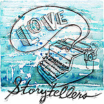 storytellers button blue