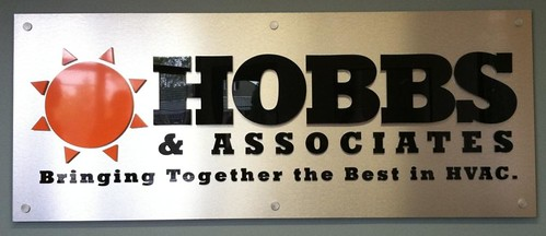sign education professional logo signs using brushed metal and