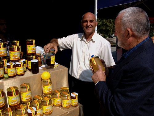 Honey sellers - Pristina, Kosovo