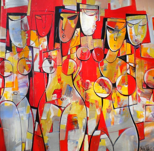 Mystere Rouge - Painting - Cubism                                                1