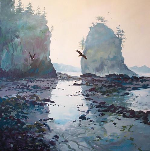 Siwash Rock - Painting - Impressionism