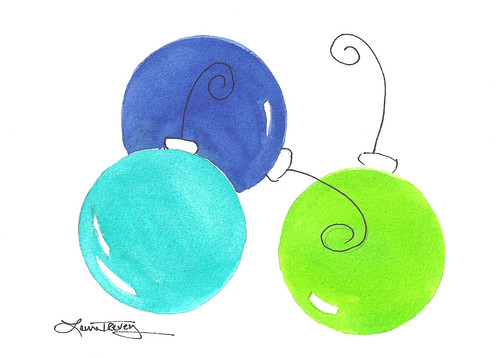 Christmas Balls in Watercolor