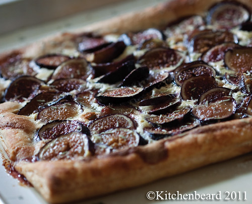 Fig and Rosemary Tart with Almond Creme Friache Filling