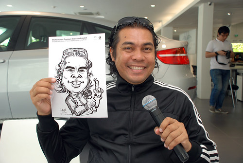 Caricature live sketching for Performance Premium Selection first year anniversary - day 4 - 4