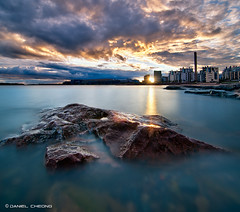 Planet Helsinki [2] (DanielKHC) Tags: light sunset sea sun seascape clouds digital landscape helsinki nikon rocks long exposure path dri blending d300 nd400 danielcheong danielkhc tokina1116mmf28