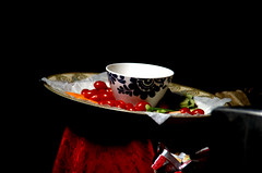 Bowl of Cherries Still Life,  Homage to Jean-Honor Fragonard (sandrus10009) Tags: cherries gothamist cherrytomatoes fragonard jeanhonorfragonard moviesset moviesetfood