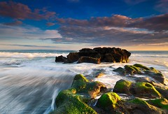 la vie en bleu... (Dyahniar Labenski) Tags: blue bali green nature rock stone indonesia nikon asia waves bleu asie biru lavie indonsie d7000 sesehbeach ikniroviolet dyahniar