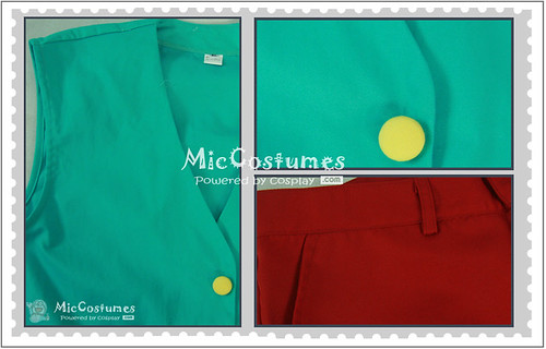 One Piece Luffy Green Cosplay Costume_2