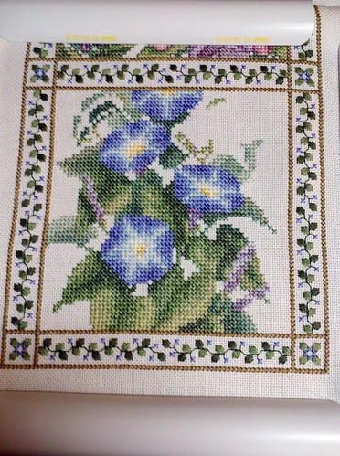 Floral Bellpull progress as of 9-25-11