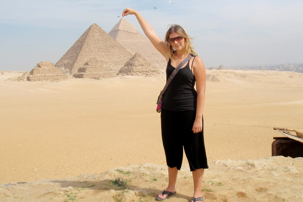 Nicole has the pyramids at her fingertips