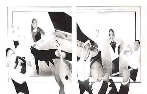 El Concierto    Painting Original- Plexiglass