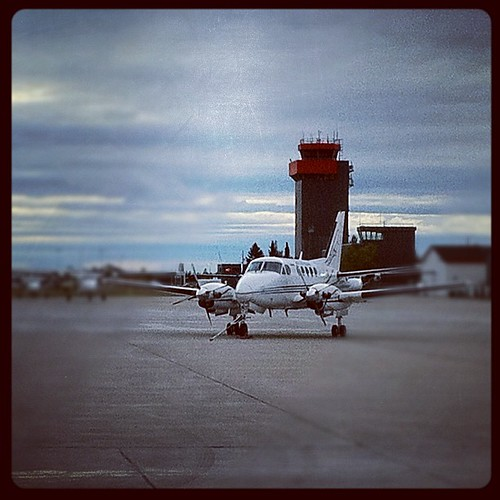 A nice #fall #morning in #yyr #airport. #be10 #kingair #aircraft