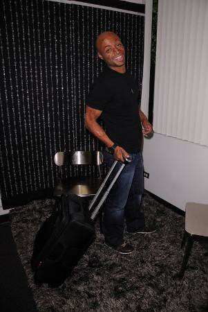 J.R. MARTINEZ Strolls Around With LIFT Luggage