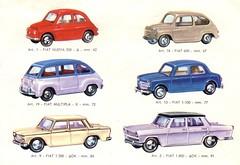 Mercury 1963 Supermodelli (Chris*4) Tags: fiat mercury scan 600 1800 500 1963 1100 1300 diecast multipla supermodelli