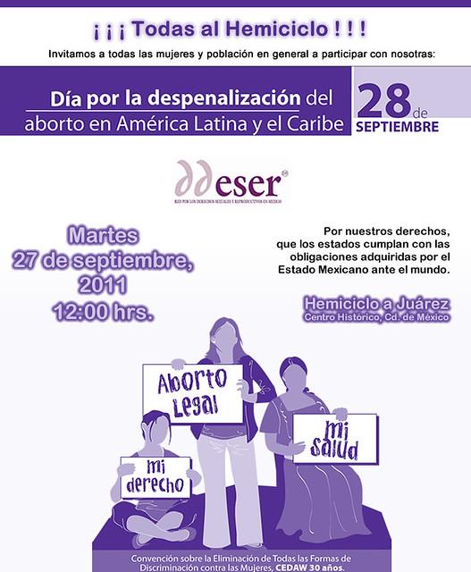 Día por la despenalización del aborto en América Latina y el Caribe DDESER