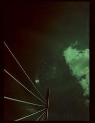 somewhere in france #22 viaduc de millau (douweplukkel) Tags: bridge france pen xpro olympus oldschool crossprocessing kit olympuspen rapid millau viaduc mimoa c41 viaducdemillau ee2 olympuspenee2 tetenal