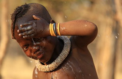 Time for a wash (Mick Byrne) Tags: tribes tribe namibia himba
