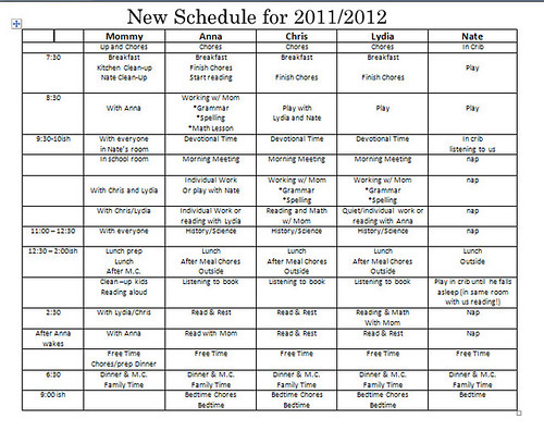 revised 2011 schedule - Microsoft Word 9282011 75457 AM