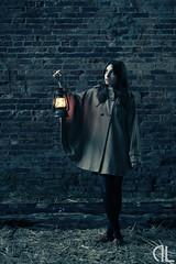 Fireflies. (Danknee.) Tags: building fashion model women coat adventure fantasy lantern curious nostrobistinfo danknee removedfromstrobistpool seerule2 dannyland gemmascales