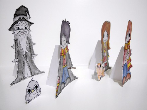 Harry Potter paper dolls (side)