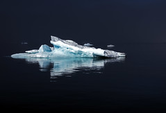 arctic sea (mariusz kluzniak) Tags: ocean blue sea white black ice water composition reflections dark still quiet sony north floating arctic iceberg polar alpha 580 the4elements a580