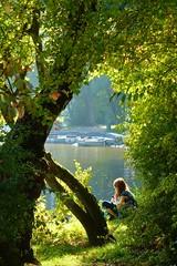 Fairy Tale (ivlys) Tags: autumn lake water girl germany darmstadt mädchen abigfave oberwaldhaus steinbrückerteich ivlys