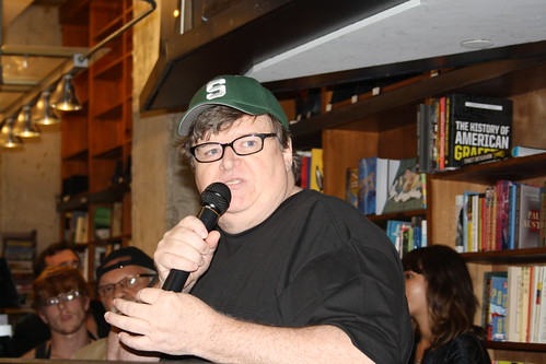 Michael Moore at St. Mark's bookstore 7