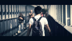 Day #270  365 The Fighter. (Stefano Santucci - www.stefanosantucci.it) Tags: life street city boy portrait people urban italy man guy station train canon project grid photography eos florence day fighter dof metro bokeh candid streetphotography tunnel tuscany firenze 365 cinematic stefano santucci 135l canoniani 5dmarkii 5d2 5dmii streettogs tastino0 tastino0photography0